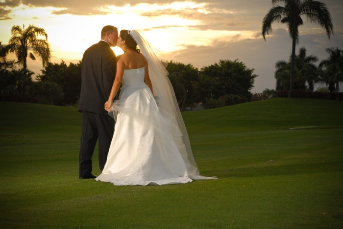 wedding image sunset